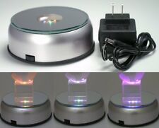Color Changing LED Turntable Rotating Base for Crystals Merchandise Display