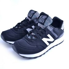 Scarpe sneakers New Balance WL574ASB donna woman nero black fabric Saucony Asics