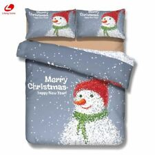 3d bedding set Christmas decor Santa claus Snowman duvet cover bedclothes Xmas