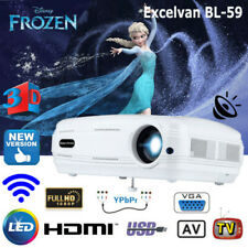 BL-59 3200 Lumens Android WIFI 3D LED Proyector HD 1080P Multimedia HDMI 8GB ATV