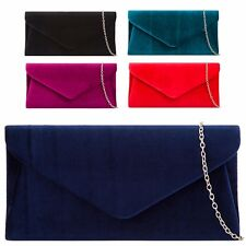 Ladies Velvet Clutch Bag Cocktail Party Bag Bridal Formal Handbag Purse KH2119