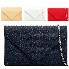 Ladies Rain Drop Glittery Clutch Bag Glitter Cocktail Bag Handbag Purse KTL2147
