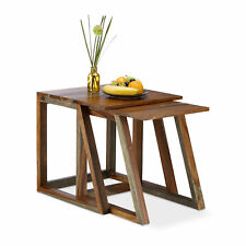 Tables gigognes en bois de Sheesham table d'appoint lot de 2 bois palissandre