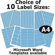 BLUE Laser Copier Inkjet Printer Labels 5 A4 Sheets Self-Adhesive Stickers