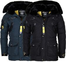 Geographical Norway LUSSO Caldo Giacca invernale Uomo Parka a vento Outdoor