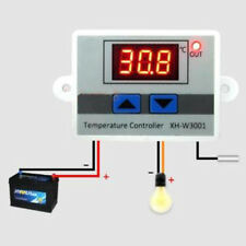 12V/220V Digital LED Temperaturregler Thermostat Kontrolle Schalter Probe NEU