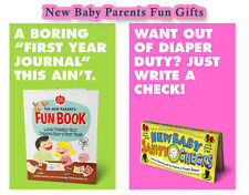 New Parents Fun Book & New Baby Sanity Checks New Baby & Baby Shower Gifts