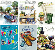3D Decoupage Birthday Cards by Noel Tatt Male Traditional and Contemporary