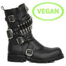 New Rock Vegane Gothic EBM Metal Ranger Army Armee Biker Boots Stiefel M.300-V2