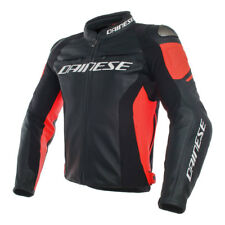 Dainese | Racing 3 Giacca in pelle Moto Nero Rosso Leather Jacket Black Red