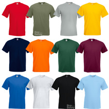 FRUIT OF THE LOOM MEN'S T-SHIRT PREMIUM 100% COTTON TEE PLAIN CREW NECK S-3XL