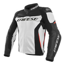 Dainese | Racing 3 Giacca in pelle Moto Nero Bianco Leather Jacket Black White