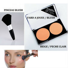 FARD A JOUE BLUSH DOUBLE PALETTE PECHE BEIGE MAKE UP NEUF MAC049 / PINCEAU BLUSH
