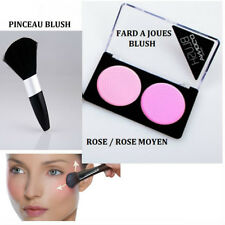 FARD A JOUE BLUSH DOUBLE PALETTE ROSE MAKE UP NEUF MAC048 ou PINCEAU BLUSH