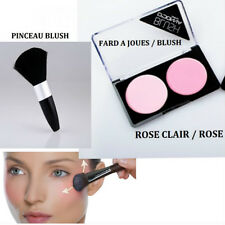 FARD A JOUE BLUSH DOUBLE PALETTE ROSE CLAIR MAKE UP NEUF MAC047 ou PINCEAU BLUSH
