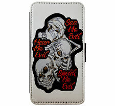 See no Evil - Hear no Evil - Speak no Evil Skulls Gothfor iPhone & Samsung D7