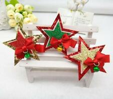 Christmas Dog Hair Clips Hairpins Star Xmas Grooming Accessories