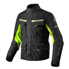 REV'IT | Outback 2 Giacca Moto Ventilata Touring Adventure Nero Giallo Fluo