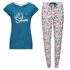 'Let it Snow' Christmas PJs pyjamas by Avon sizes 10-24 gift wrapped with bow