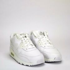 Nike Air Max 90 Leather Men's Shoes Triple White * Ex Display