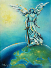 Cuadro sobre lienzo Archangel Michael - Hand painted Angel Art - M. Zacharias