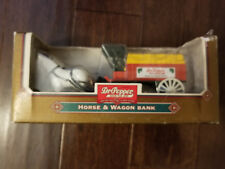 NEW IN BOX Dr Pepper Horse and Wagon Bank - Ertl F262 1/32 Scale Locking Bank
