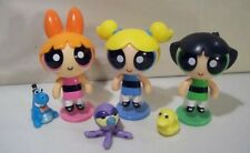 LOT OF 3 NWOB THE POWERPUFF GIRLS ACTION DOLL FIGURES BUTTERCUP BLOSSOM BUBBLES