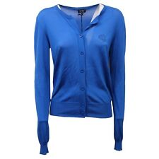 D1322 cardigan donna ARMANI JEANS blue maglione sweater woman