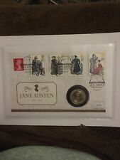 Jane Austen £2 Two Pound Brilliant Uncirculated 2017 First Day Stamp Coin Cover
