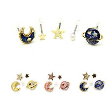 New Women Fashion Cute Tiny Star Moon Ear Stud Earrings Small Studs Jewellery