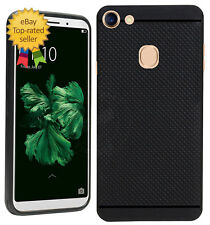 360* Protection Dotted Design Soft Back Cover For Oppo F5 -Black