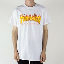 Thrasher Flame Logo T-Shirt – White Brand New in size M,L,XL