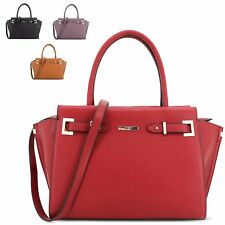 Ladies LYDC Faux Leather Shoulder Bag Evening Party Handbag Grab Bag Tote GL4681