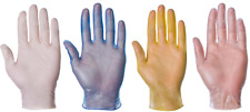 Disposable Clear & Blue Vinyl Latex Nitrile Powdered Powder Free Medical Gloves