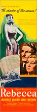 Póster REBECCA, from left: Laurence Olivier, Joan Fontaine, 1940.