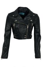 New Luxury Ladies Black Deluxe Casual Style Fitted Real Soft Napa Leather Jacket