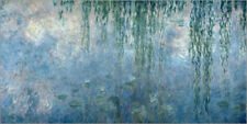 Póster Waterlilies: Morning with Weeping Willows - Claude Monet