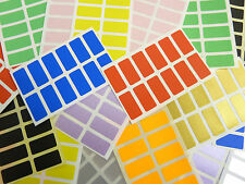 25x12mm Rectangular Color Mixto color Etiquetas Adhesivas Pegatinas - 10 colours