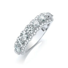 925 Sterling Silver CZ Ring Wedding Engagement Valentines gift White Gold Plated