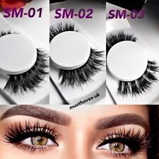 3D Mink Fur Thick Long False Fake Eyelashes Siberian Handmade Lashes Extension
