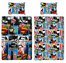 Children Batman Vs Superman Clash Design Reversible Single Pillow Cover Bed Set