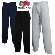 FRUIT OF THE LOOM pantaloni da Jogging Tuta orlo aperto GAMBA corsa COMODO S-2XL