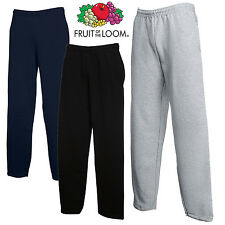 confezione da 2 FRUIT OF THE LOOM pantaloni Jogging Tuta orlo aperto GAMBA corsa
