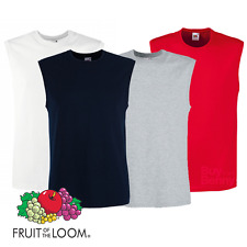 FRUIT OF THE LOOM UOMO CANOTTA Smart Fit Cotone Sport Palestra estate t-shirt