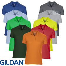 GILDAN DONNA POLO DRYBLEND TRASPIRANTE SPORT Tennis Top da golf colletto S-2XL
