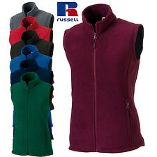 Russell Donna Outdoor Gilet in Pile Zip moderno abbigliamento casual GIACCHE
