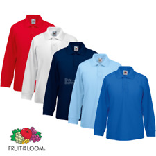 Fruit of the Loom Niños Polo de manga larga ELEGANTE COLLAR COLORES INFANTIL