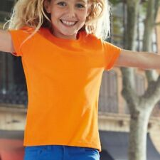 Fruit of the Loom Niñas Suaves Spun cotidiano Liso Camisetas Infantil