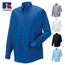 RUSSELL COLLECTION CAMICIA OXFORD di cotone a manica lunga uomo lavoro Easy Care