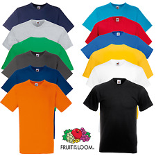 FRUIT OF THE LOOM uomo t-shirt con scollo a V pianura di estate maglietta cotone